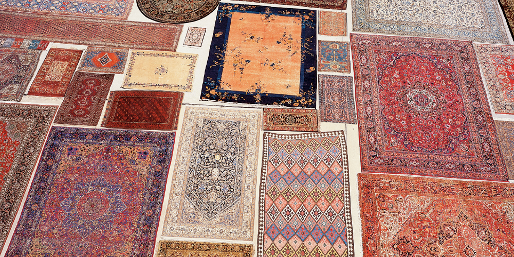 Persian Rugs Drying