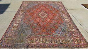 Persian Rug Moth Damage: Before
